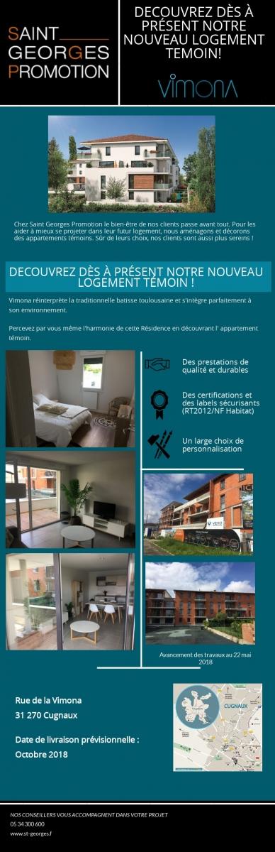 nouveau logement témoin, résidence vimona | saint georges promotion